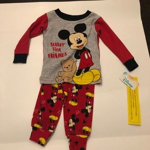 NWT Mickey Mouse pjs 9mo